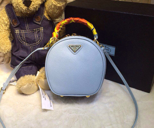 girl, handbags, and Prada image