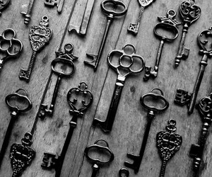 black and white and key image