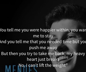 lyric, the weight, and shawn mendes image
