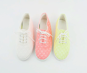 shoes, pink, and yellow image