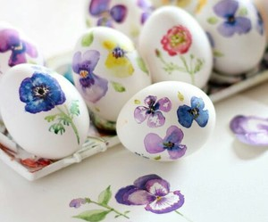 easter, eggs, and flowers image