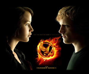 movie poster, the hunger games, and trilogy image