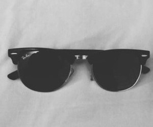 black and white, summer, and sunglasses image