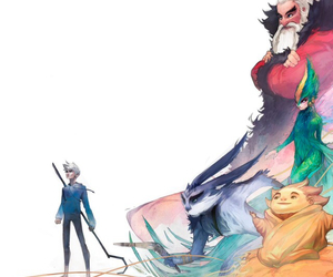 jack frost, rise of the guardians, and santa claus image