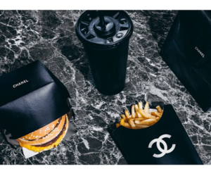 chanel, black, and burger image
