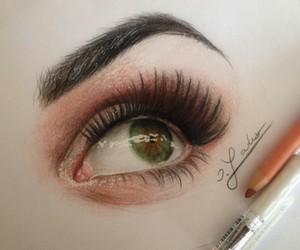 art, drawing, and eyebrow image