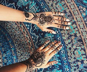 henna, summer, and beach image