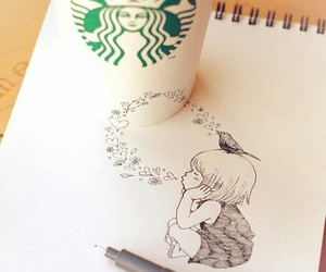drawing and starbucks image