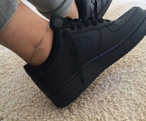 air force, nike, and black image