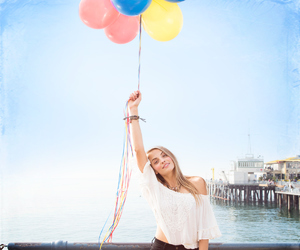 balloons, beach, and festival image