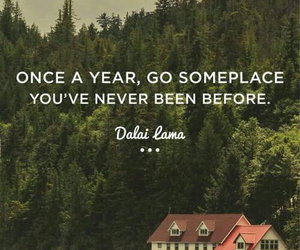 travel, quote, and dalai lama image