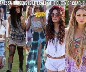 coachella, vanessa hudgens, and Queen image