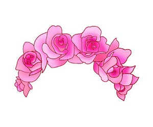 overlay, pink, and flowers image