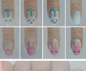 nails, bunny, and diy image