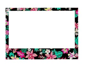 black, flowers, and frame image