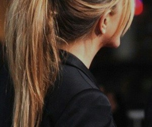 hair, ponytail, and blonde image
