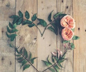 leaf, love, and flowers image