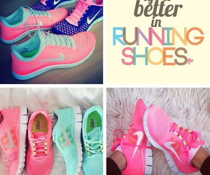 shoes, fitness, and nike image
