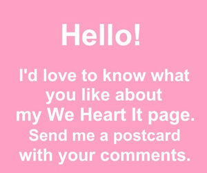 postcard, hello, and weheartit image