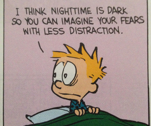 calvin, calvin and hobbes, and dark image