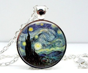 handmade necklace, pendant necklace, and glass dome image