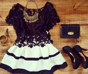 dress, outfit, and beauty image