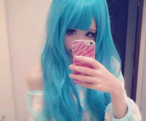 blue, kawaii, and cute image