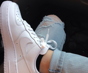 denim, nike, and shoes image