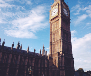 Big Ben, clouds, and london image