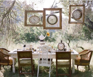 clocks, garden, and party image