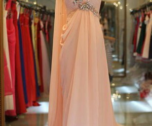 pink, Prom, and prom dress image