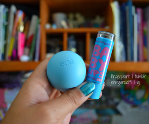 eos, blue, and lips image