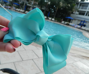 bow, blue, and tumblr image