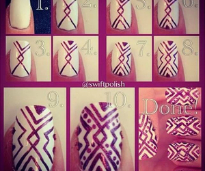 nails, white, and tutorial image