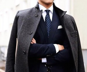 classy, suit, and coat image