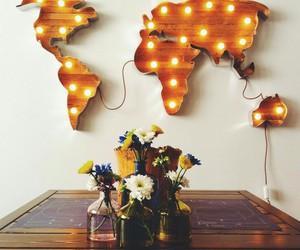world, flowers, and light image