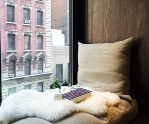 book, city view, and cozy image