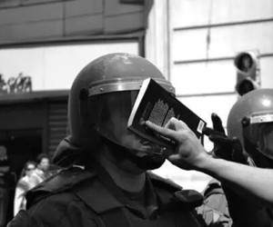 book, police, and black and white image