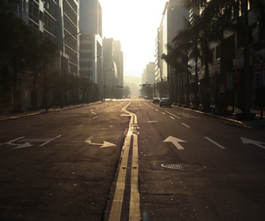 photography, city, and road image