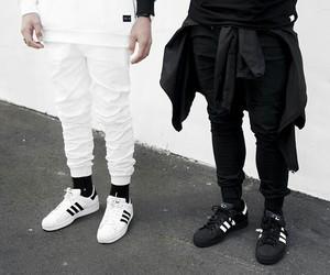 adidas, boys, and white image