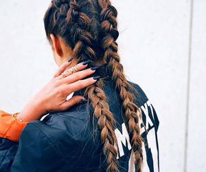 hair, braid, and nails image