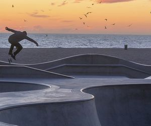 skate, boy, and sunset image