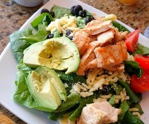 healthy, salad, and yummy image