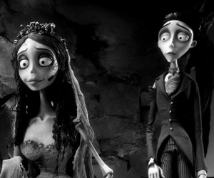 black, corpse bride, and emily image