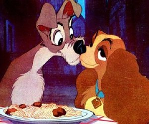 love, disney, and lady and the tramp image