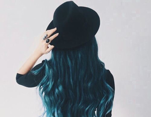 blue, style, and hair image