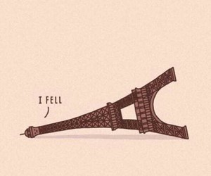 eiffel, funny, and falling image