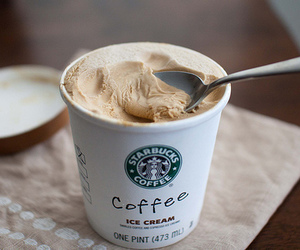 starbucks, coffee, and ice cream image