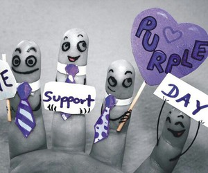 day, fingers, and purple image