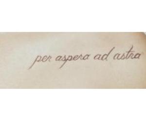 latin, quote, and per aspera ad astra image